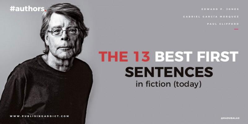 Best first fiction sentences.